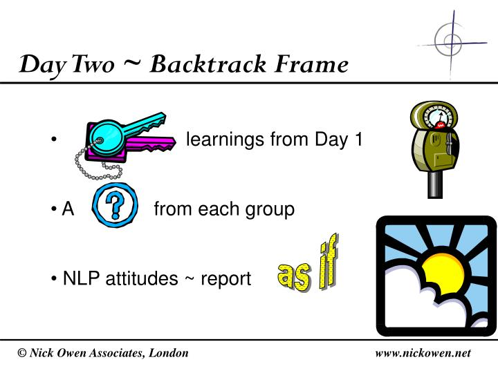 Day Two ~ Backtrack Frame