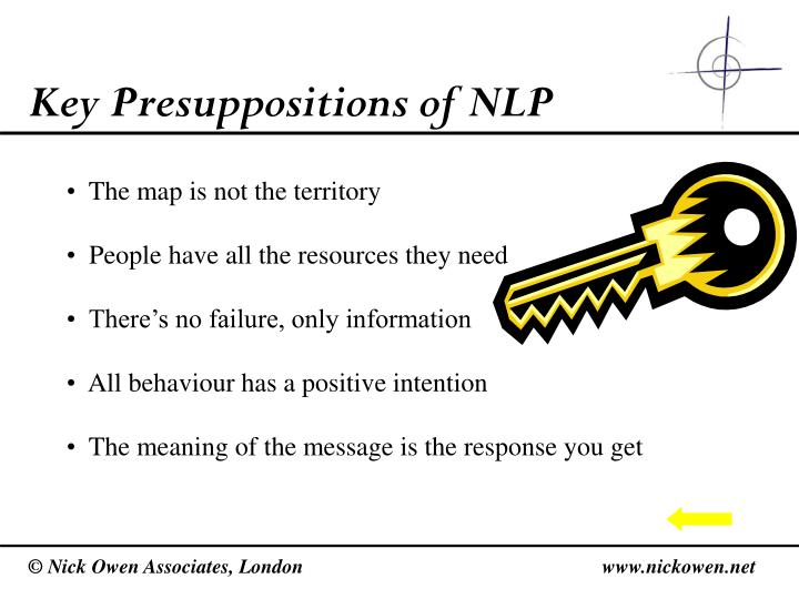 Key Presuppositions of NLP