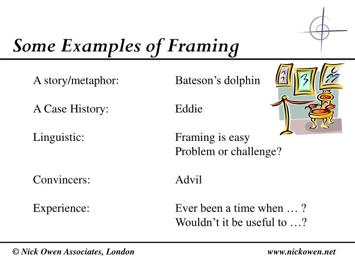 Some Examples of Framing