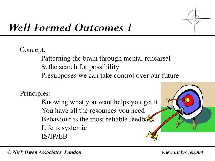 Well Formed Outcomes 1