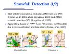 snowfall detection 1 2