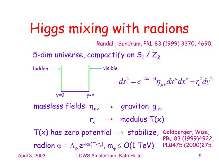 Higgs mixing with radions