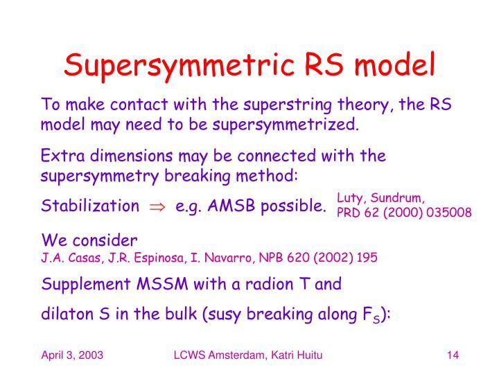 Supersymmetric RS model