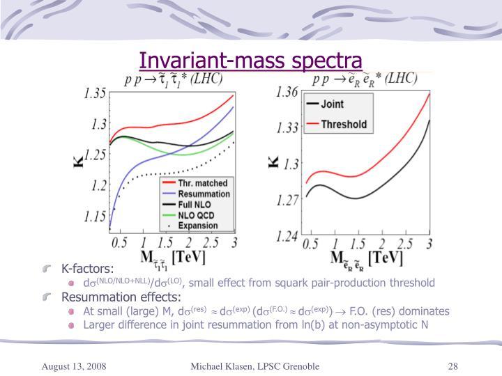Invariant-mass spectra
