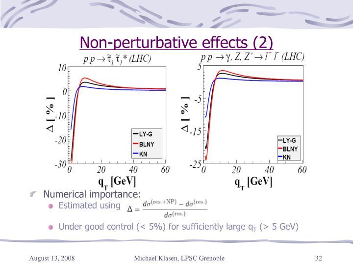 Non-perturbative effects (2)