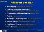 adaboost and nlp