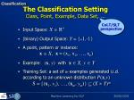 the classification setting class point example data set