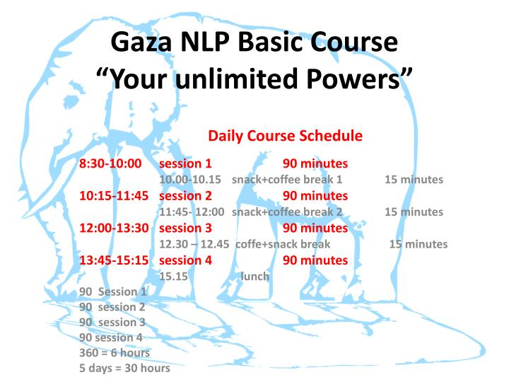 Gaza nlp basic course your unlimited powers