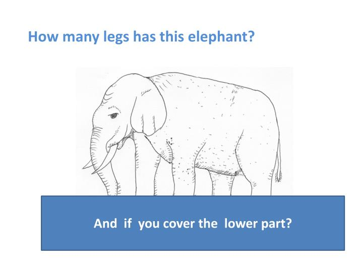 How many legs has this elephant