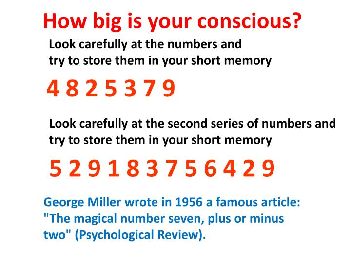 How big is your conscious?