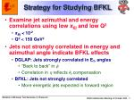 strategy for studying bfkl
