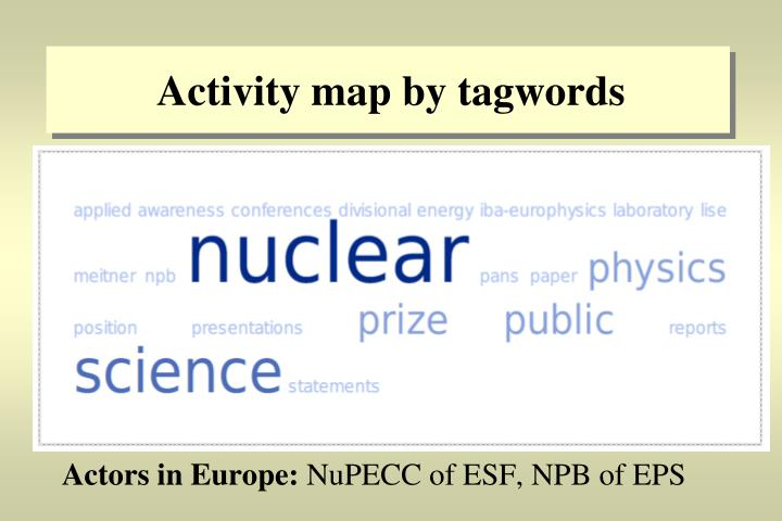 Activity map by tagwords