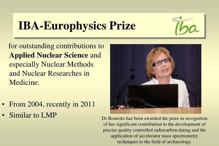 IBA-Europhysics Prize