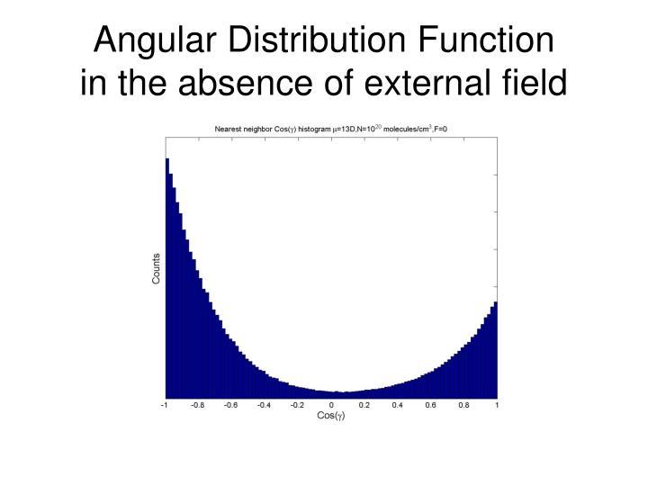 Angular Distribution Function