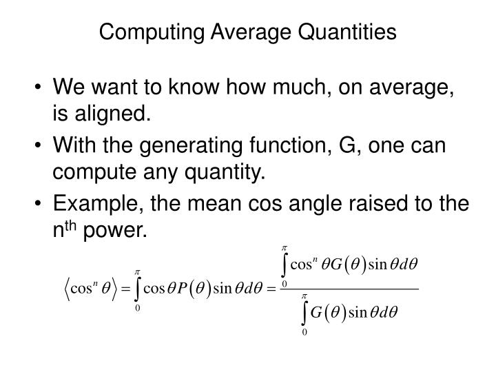 Computing Average Quantities