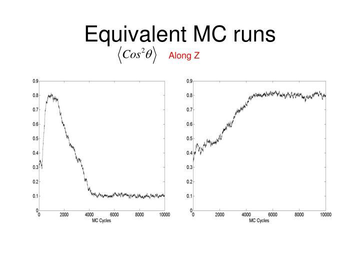 Equivalent MC runs