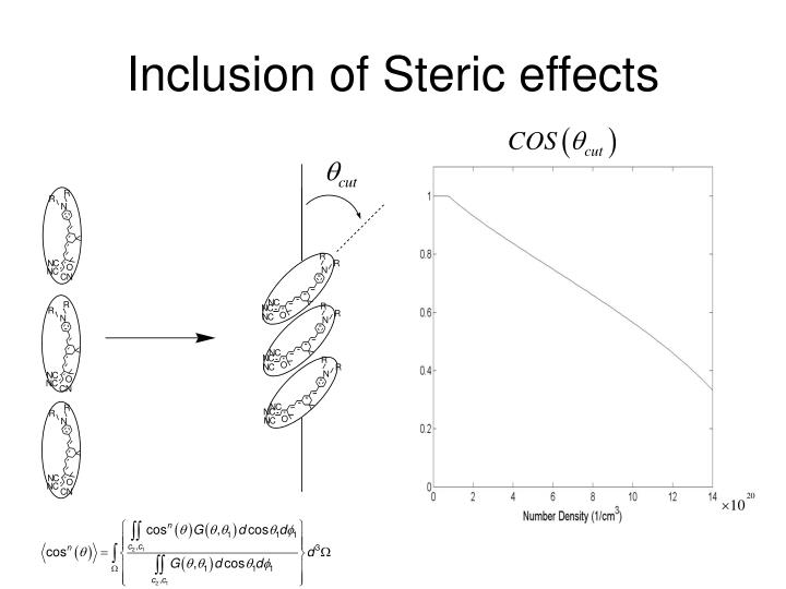 Inclusion of Steric effects