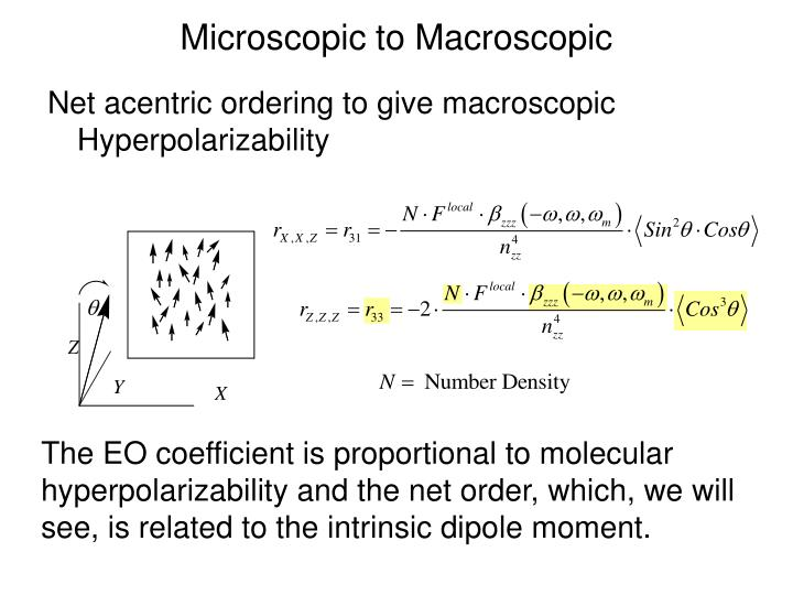 Microscopic to Macroscopic