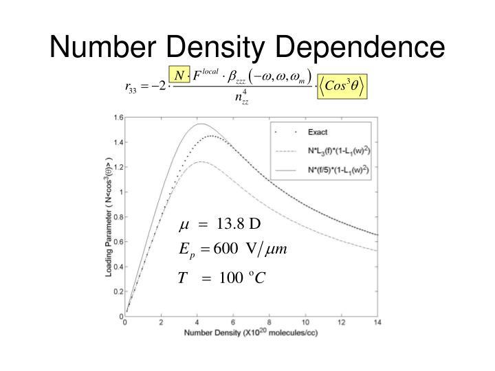 Number Density Dependence