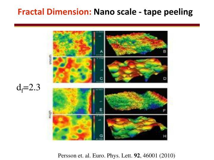Fractal Dimension: