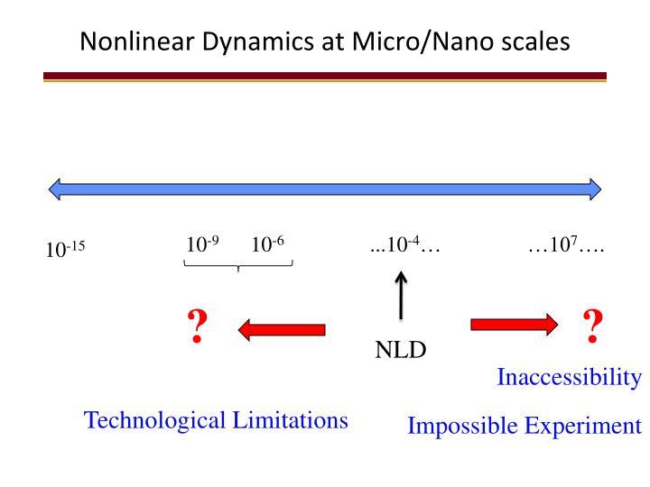 Nonlinear Dynamics at Micro/Nano scales