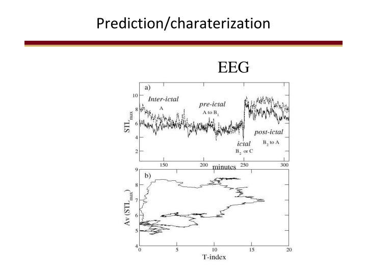 Prediction/charaterization