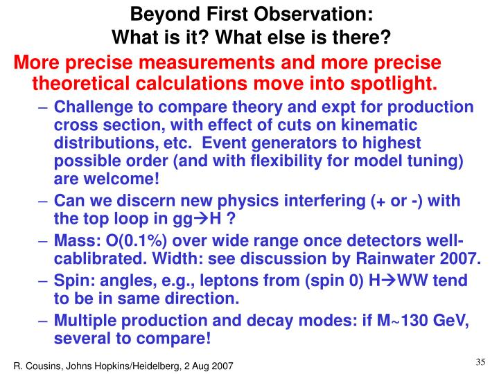 Beyond First Observation: