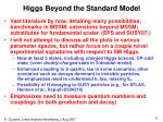 higgs beyond the standard model