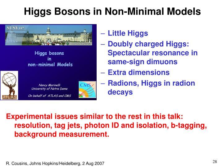 Higgs Bosons in Non-Minimal Models