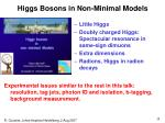 higgs bosons in non minimal models