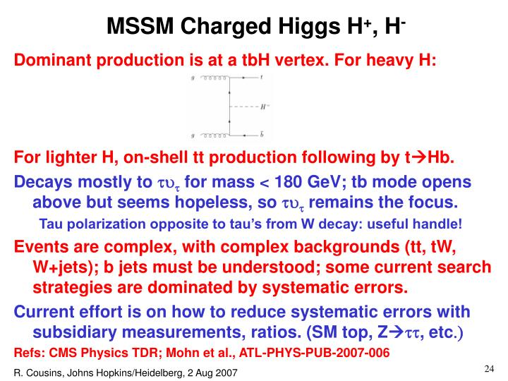 MSSM Charged Higgs H