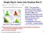 single top 5 years into tevatron run ii