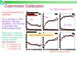 calorimeter calibration