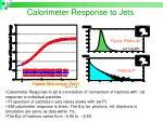 calorimeter response to jets
