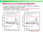 midpoint cone clustering algorithm