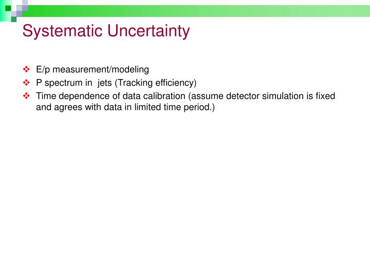 Systematic Uncertainty