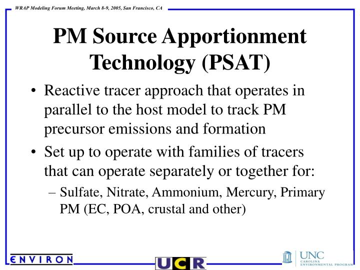 Reactive tracer approach that operates in parallel to the host model to track PM precursor emissions and formation