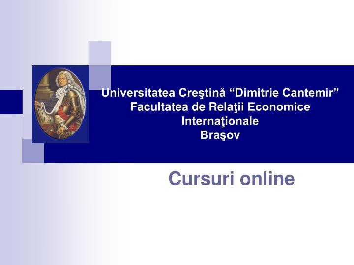 """Universitatea Creştină """"Dimitrie Cantemir"""""""