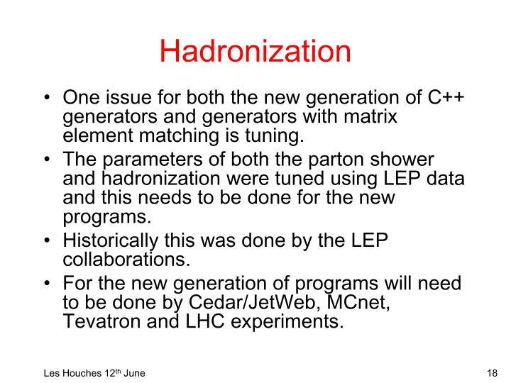 Hadronization