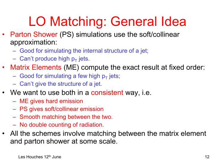 LO Matching: General Idea