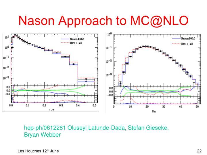 Nason Approach to MC@NLO