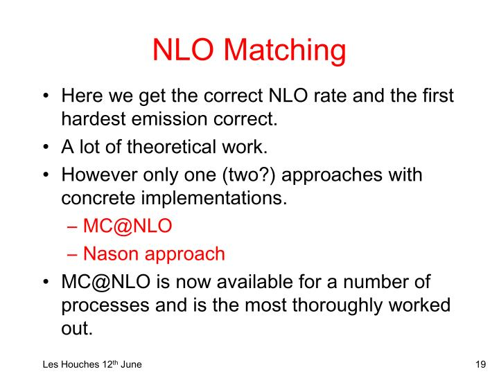 NLO Matching