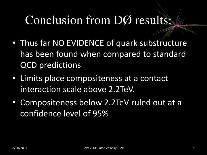 Conclusion from DØ results
