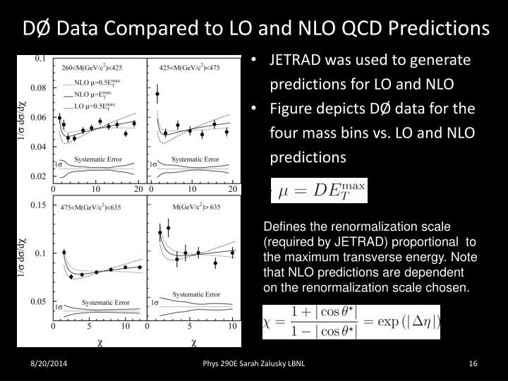 DØ Data Compared to LO and NLO QCD Predictions