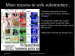 more reasons to seek substructure