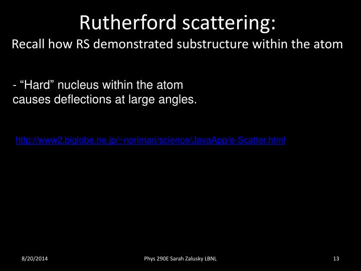 Rutherford scattering: