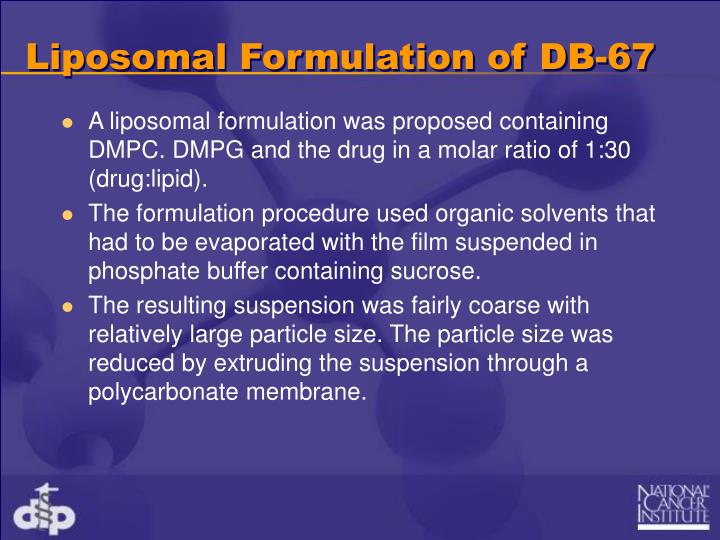 Liposomal Formulation of DB-67