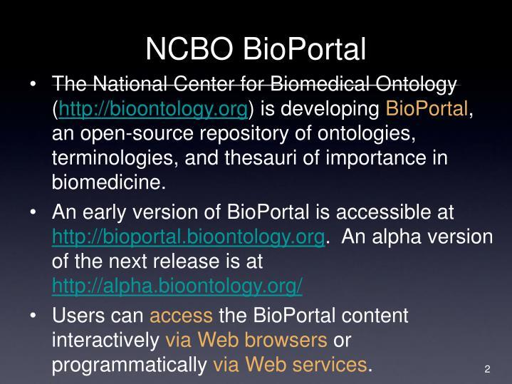 NCBO BioPortal