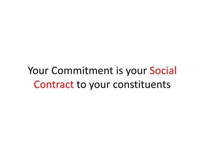 Your Commitment is your