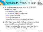 applying powheg to baur s mc